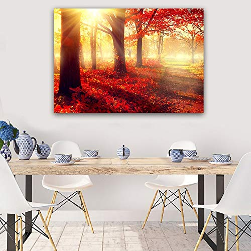 Leinwanddrucke Sonnenaufgang Landschaft Bilder Wandkunst Dekor Homefor Wohnzimmer Poster50x75cmRahmenlose Malerei