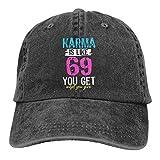 Jopath Karma is Like 69 You Get What You Give Gorra de béisbol, unisex, unisex, ajustable, estilo vintage
