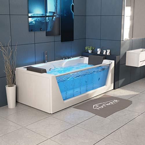 TroniTechnik Whirlpool Badewanne KOS 2 179cm x 85cm mit Heizung Hydromassage Bachlauf und Farblichtherapie - 6