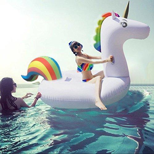 Gonfiabile Gigante Unicorno, giocattolo galleggiante gonfiabile estivo per adulti e bambini 275*140*120 cm