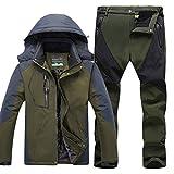 Qitun Hombre de Trekking Impermeable Deportivos Transpirable Pantalones Chaqueta de Esquí...