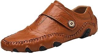 KItipeng Hommes Mocassins en Cuir Chaussures Plates ÉTé,Pas Cher Loafers Cuir Chaussures DéContractéEs—Chaussures Bateau D...