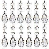 Cuentas de Cristal Transparente para Lámpara de Araña 12 Piezas Colgante de Cuentas de Cristal en Forma de Lágrima Colgante de Cristal Octogonal Araña de Cristal en Forma de Lágrima Para Iluminación