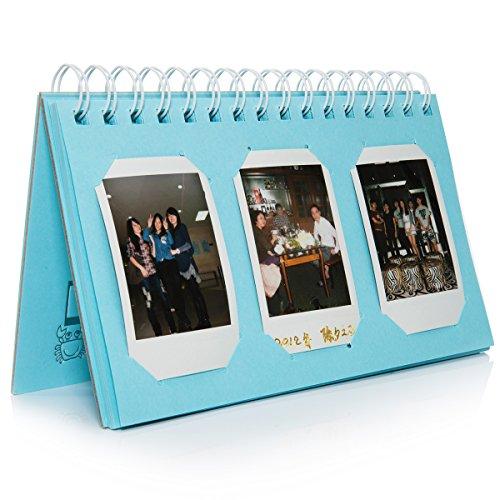 CAIUL Compatible Mini Book Album for Fujifilm Instax Mini 8 8+ 9 70 7s 25 26 50s 90 Film, Pringo P231, Instax Share SP-1 SP-2, Polaroid PIC-300 Z2300 Film (Blue, 60 Photos)