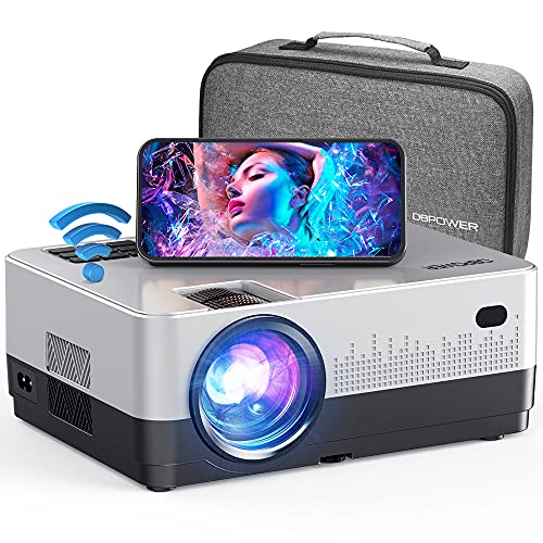 DBPOWER Proyector WiFi, 7500L Full HD 1080p Proyector de vídeo con funda de transporte, compatible con pantalla de sincronización...