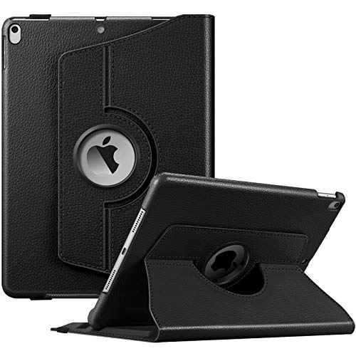 """FINTIE Custodia per Nuovo iPad Air 10,5"""" (3ª Gen) 2019 / iPad PRO 10,5"""" 2017 con Pencil Holder- Girevole 360 Gradi di Rotazione Cover Protettiva Case con Auto Sveglia/Sonno, Nero"""