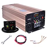 XWJNE 5000 Watts Power Inverter 48V to 110V Pure Sine Wave Car Plug Inverter Adapter Power DC to AC Converter with Remote Control and LED Display 4.2A USB Charging Ports & 2 AC Outlets Car Charger