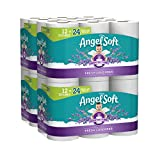 Product Image of the Angel Soft Toilet Paper with Fresh Lavender Scented Tube, 2-Ply Sheet Double Rolls, 12 Count of 214 Sheets Per Roll, Pack of 4 (79372)