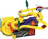Bhaibandh Track Racer Racing Car Set Toy Car Set for Kids with Helicopter