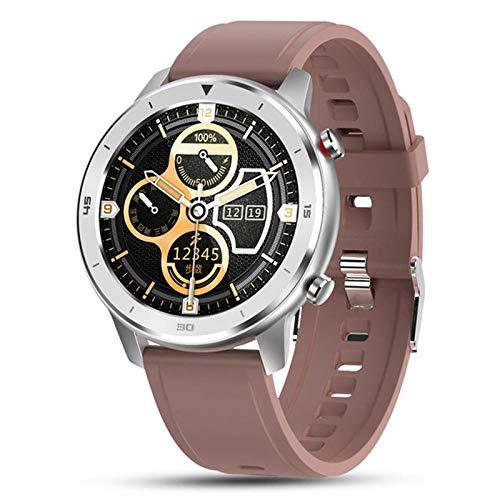 NUNGBE Reloj Inteligente, Reloj Inteligente para Hombres y Mujeres, Pulsera, rastreador de Actividad física, Monitor de frecuencia cardíaca Resistente al Agua para Dispositivos portátiles: marrón