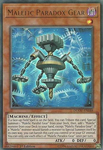 Malefic Paradox Gear - DUOV-EN048 - Ultra Rare - 1st Edition