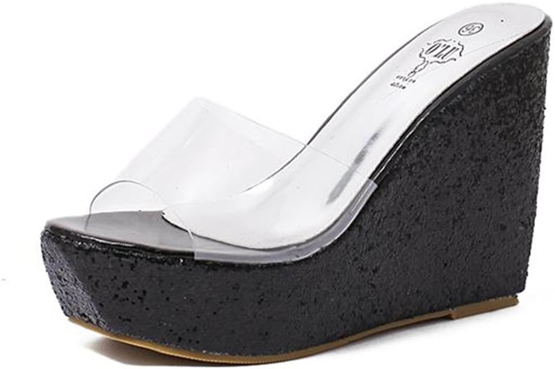 Linson123 Women's high Heels Elegant Transparent high Heel Sandals Dress shoes