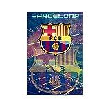 SDFGSD Fußballfeld-Poster FC Barcelona Szene Ästhetik