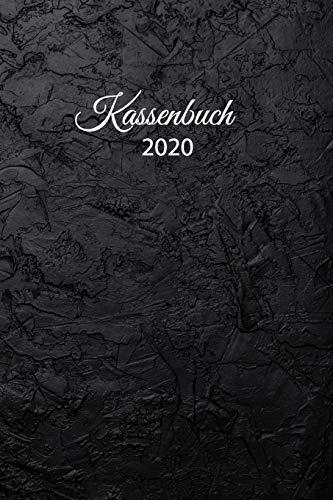 Kassenbuch 2020: übersichtliches Kassenbuch für die Buchhaltung oder als Haushaltsbuch | der Überblick deiner Finanzen | A5 Format mit numerierten ... Cover – Motiv: schwarzer Mauer Effekt