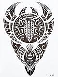 Tatuaje tribal Maori para hombre, tatuaje falso hb829