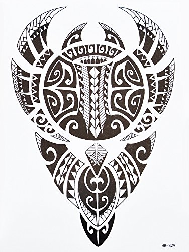 hb829 - Tatuaggio da uomo in stile tribale Maori