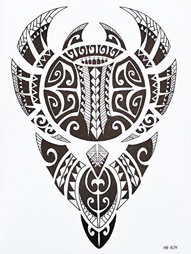 Tribal Tattoo Nero hb829Braccio adesivi tatuaggio Maori e motivo tribale