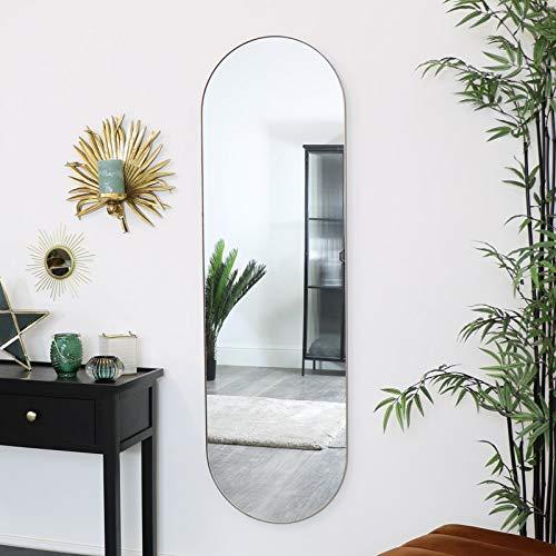 Melody Maison Espejo de pared ovalado dorado 140 cm x 40 cm