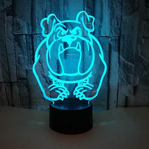 Cartoon Hond Vorm Kleurrijke 3D Nachtlampje Oogverzorging Led Licht Nachtlampje Thuis Decoratie Verjaardagscadeau