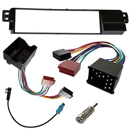AERZETIX: Mascherina telaio adattatore kit 1DIN copertura in plastica stampata per il cambio sostituzione dell'autoradio originale con un radio standard per veicoli automobile