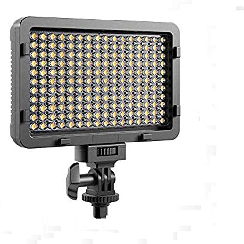 LTPAG Luz de Video LED, Luz de Panel de Cámara Regulable Ultra Brillante 176 LED Portátil para Canon, Nikon, Pentax, Panasonic, Sony, Samsung, Olympus y Todas Las Cámaras DSLR