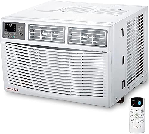 8000 Btu Window Air Conditioner Cool,Dehumidifier,Fan,with Remote Control,Auto Eco Sleep Mode,Energy Saving,24-Hour Timer Great for Bedroom Living room