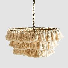 Nordic Ins Atmosphere Handgeweven Tassel Hanglampen Designer Art Decoratieve Hanglamp Model Woonkamer Slaapkamer (Kleur : ...