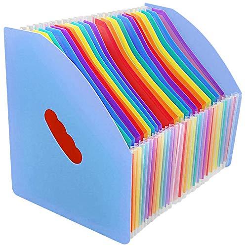 ACAMPTAR Capicity Grande 24 Bolsillos A4 Accordian File Organizer Expandiendo la Carpeta de Archivos Expansor de Almacenamiento de Escritorio para la Escuela de Oficina en Casa