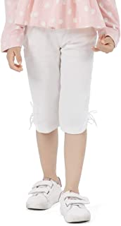TUZAMA ガールズ ユニークな小さな弓のズボン