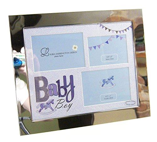 Ligera con función atril y de color azul de fotos de madera con marco de madera para con mangas para bebé de pelo de niño con el texto en inglés de forma segura en un regalo grapas para atado de