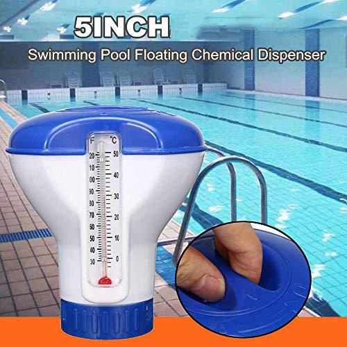 5 Inch Universal Doseren Meter Thermometer, zwembad desinfectie automatische doseerinrichting Drijvende Chemical Chloor Dispenser Thermometer