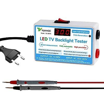 KOET LED TV Backlight Tester, LED Light Strip Lamp Beads COB Light Source Repair Testing Tool with LCD Digital Display, 0-300V Output Adaptive Voltage