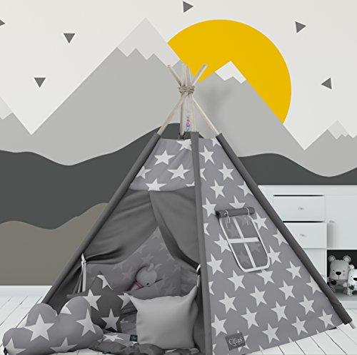 Elfique Tipi - Tienda de campaña (doble capa, manta acolchada y tres almohadas) , color/modelo surtido