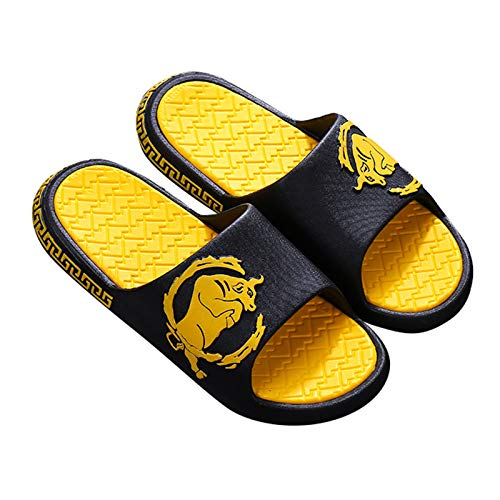 Zapatillas de Estar por Casa, Zapatillas De Ducha, Actualización De Moda, Antideslizante, Para Mujer, Hombre, Zapatos Para El Hogar, Sandalias Cómodas De Alto Gr(Color:Amarillo-B,Size:23.5~24cm/37~38)