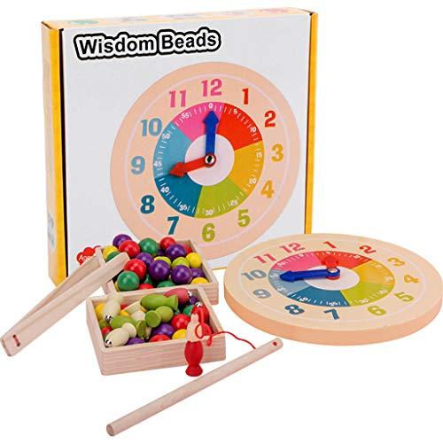 ZJL220 - Juguete de juego de pesca de madera magnética para niños y niñas, cumpleaños, aprendizaje, juguetes educativos