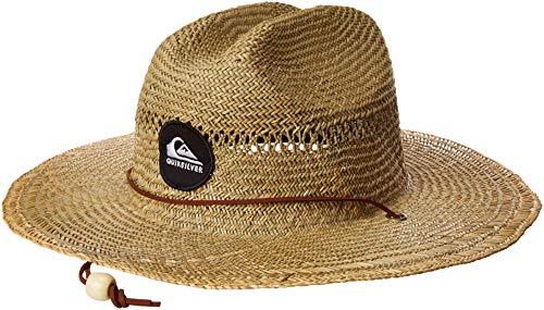 Quiksilver Men's Pierside SLIMBOT Sun Protection HAT, Natural, L/XL