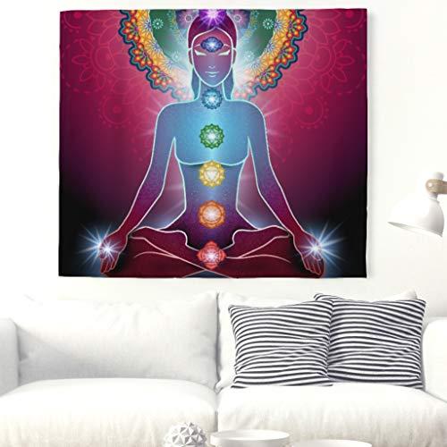Yoga Chakra Meditación pared Alfombra Buda indio