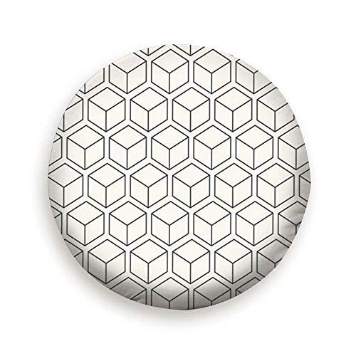 Sunwd Ersatzradabdeckungen, Monochrome Isometric Cubes 3 D Geometric Pure Black 14