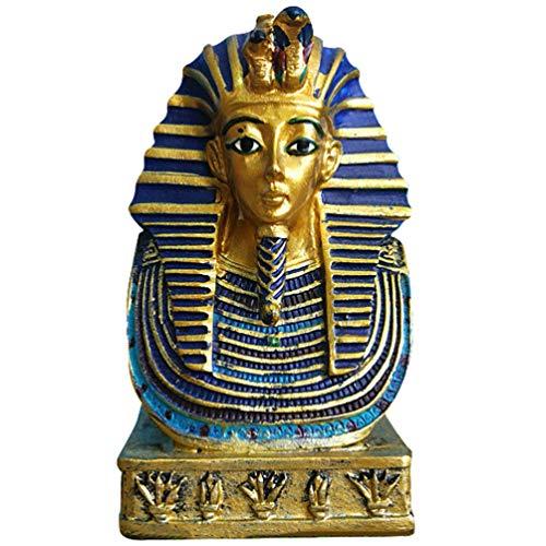 non-branded Tut Figura Coleccionable Figura Egipcia Coleccionable para La Oficina en Casa Rey Antiguo Escultura de Resina Decoración