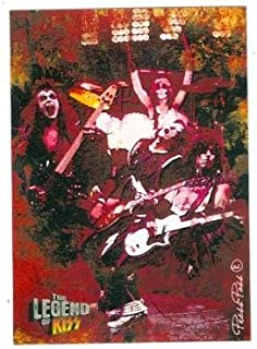 Kiss trading card Kiss The Legend 2010 #11 Gene Simmons Ace Frehley Paul Stanley Peter Criss