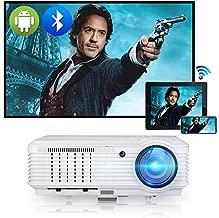 WiFi Bluetooth Projector 5000 Lumen Full HD 1080P Video Outdoor Movie Projector 200