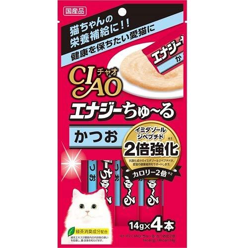 CIAO エナジーちゅ~る かつお(14g×4本)×6コ