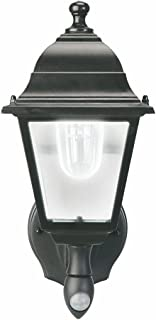 MAXSA Outdoor, Battery Powered LED Wall Sconce. Motion Activated with Cool White Light. Wireless, Metal & Glass Outdoor Po...