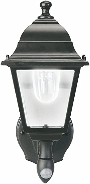 Maxsa 44219 Battery Powered Motion Activated Wall Sconce In Black