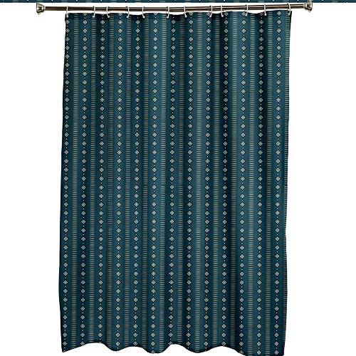 Duschvorhang Badewanne Dunkelgrünes kleines Muster Duschvorhang Wasserdicht/Antischimmel Badewanne Vorhang mit Haken,Badezimmerzubehör 47