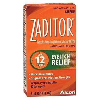 Zaditor Eye Itch Relief Antihistamine Eye Drops - 0.17 fl oz Pack of 4