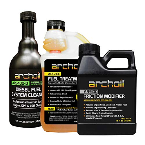 Archoil Real Deal Kit - AR9100 Friction Modifier (16oz) + AR6200 Fuel Treatment (16.9oz) + AR6400-D Fuel System Cleaner (12oz)