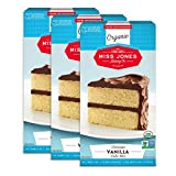 Miss Jones Baking Organic Yellow Cake and Cupcake Mix, Non-GMO, Vegan-Friendly, Moist and Fluffy: Vanilla (Pack of 3)