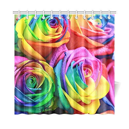Decoración para el hogar Cortina de ducha rectangular Colorido arco i