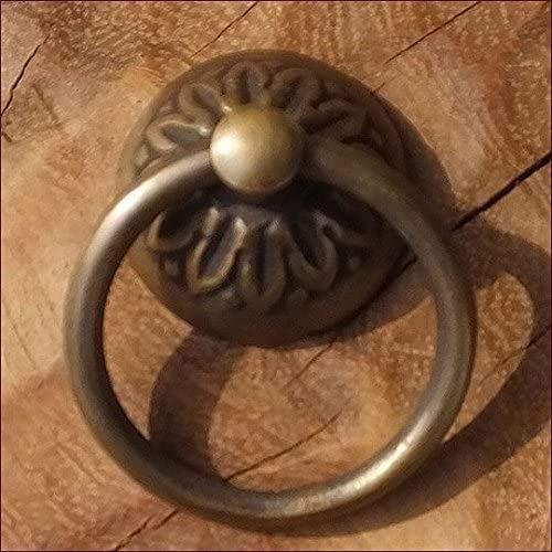 MANJA MTMET-002 真鍮 取っ手 ドアノブ つまみ ハンドル アンティーク レトロ調 ナチュラル:MTMET-002